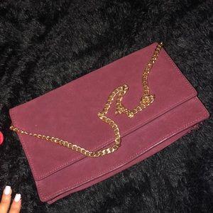 Handbags - ‼️SOLD‼️Suede clutch/evening bag